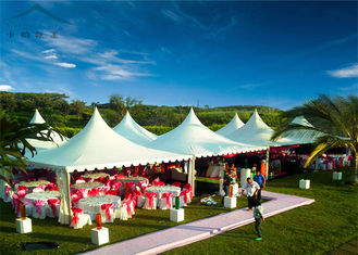 Chiny Aluminium Frame Tarpaulin Covered Marquees For Wedding With Windowed Walls dostawca