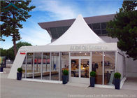 dobra jakość Outdoor Event Tents & European Style Romantic Pagoda Event Tents For Outdoor Wedding, 10m By 10m White Canopy Tent na wyprzedaży