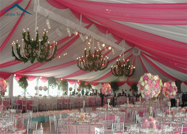 Chiny European Style Wedding Reception Tent Waterproof Canopy Tent PVC Fabric dystrybutor