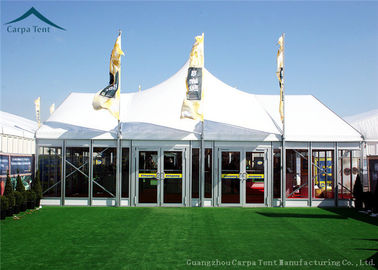 Chiny Width 10m Elegant Mixed Glass Wall Canopy Tent Structures For Outside Events dystrybutor