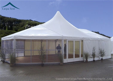 Chiny Fireproof Canvas Aluminium Frame Tents 15m * 20m With Wooden Flooring dystrybutor