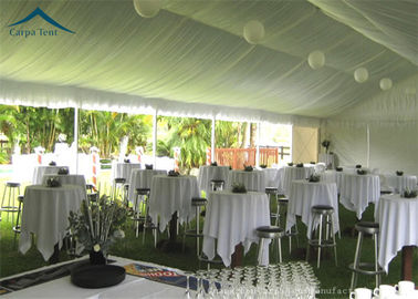 Chiny European  Style Aluminium Frame Party Tents With Roof Linings And Curtains dystrybutor