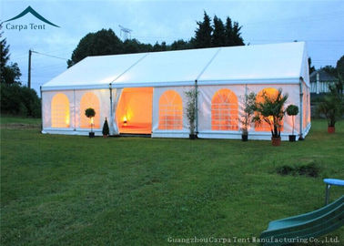 Chiny White Roof  Durable Event Tents With Linings And Curtains 10m * 15m dystrybutor