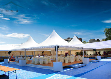 Chiny White Heavy Duty Pagoda Tents  For Wedding  PVC Fabric UV - Resistant dystrybutor